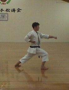 1.0 Джунро-Шодан (Движение 20). Хидари-чудан-гяку-тсуки