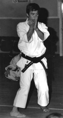 Kanazawa, sanchin stance from a Goju kata