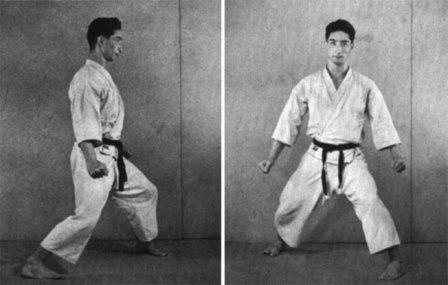 Master Hidetaka Nishiyama from 'Karate the Art of Empty Hand Fighting' (1960). Sochin dachi.