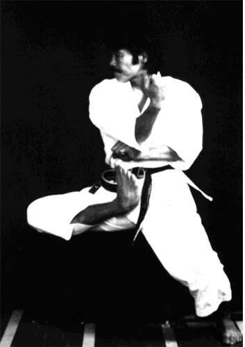 OMURA Sensei's 'fantastic' Nami ashi from Tekki Shodan. A perfect example of 'outside tension'.